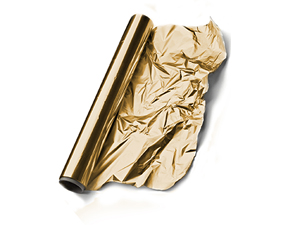 Gold aluminum foil wrapping
